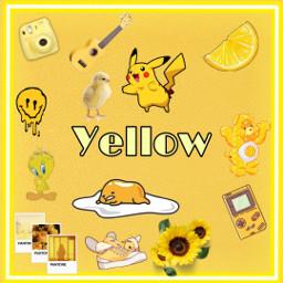 yellow colors yellowaesthetic freetoedit