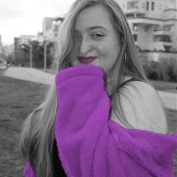 new replay editedbyme model beautiful blackandwhite purple purpleaesthetic pink pinkaesthetic love coat nature girl photography art interesting people summer travel photoshoot