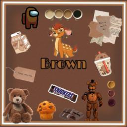 brown color brownaesthetic freetoedit