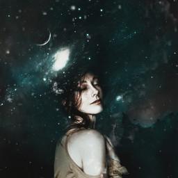 surreal galaxyart galaxy space spaceart stars planets sky dark night darkness nightsky beauty surrealism fantasy freetoedit