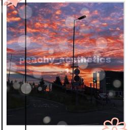 aesthetic sky night cute picsart picsartedit sunset sunsetphotography
