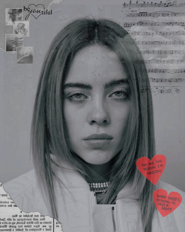 Billie Eilish Edit! ❤️ Thank you to all my new followers 🧡 Comment if you want to be tagged in my next posts!💛  Question: What is your favourite song of Billie's? Answer: Watch from Don't Smile at Me  Hashtags: #billieeilish #grey #heart #red #opacity #music  #oceaneyes #flowers #stars #angel #freetoedit