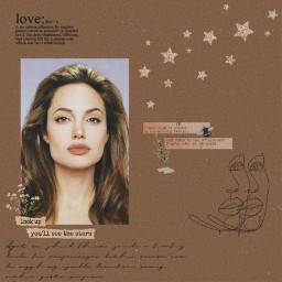 angelinajolie angelinajolieedit soft vintage aesthetic tumblr brown brownaesthetic aestheticbrown beautiful beauty love heart famous actress star aestheticedit softedit edit flower pale vibes pretty 90s text freetoedit