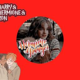hermionegranger red goldentrio harrypotter freetoedit