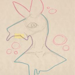origionalart traditionalart sketch highlighter doodle seaslug