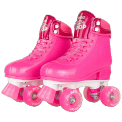 rollerskates rollerblades pink hotpink hotpinkaesthetic pinkaesthetic clothes shoes shoes4fashion skates pinkshoes boots neonpink brightcolors brightpink outfit fashion freetoedit