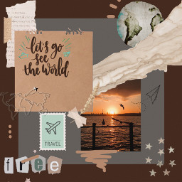 picsartchallenge travel aesthetic travelaesthetic sunset warm warmneutrals warmcolor warmneutralsaesthetic free travelvibes earth world traveltheworld airplane paperairplane mailstamp stamp stars marble brown brownaesthetic freetoedit rccollageframeaesthetic collageframeaesthetic