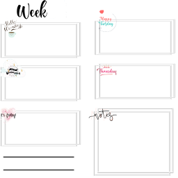 week semanal semana notas organizador notes freetoedit colorpaint