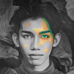 colorpop portrait boy stars effects eccolorsonblackandwhite freetoedit