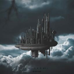 freetoedit dark city sky clouds