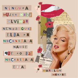 marilynmonroe mujer frases collage freetoedit