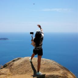 blue sky sea freetoedit