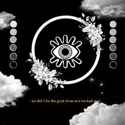 eye eyes ventedit blackandwhite blackaesthetic whiteaesthetic flowers circle clouds night circleshadow stars grey greyaesthetic comfort stressed freetoedit