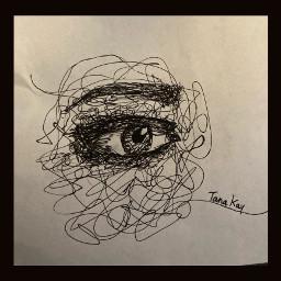 eye pen sketch scribble aesthetic top twentyonepilots falloutboy panicatthedisco interesting art bytanakay artbytana tanakay bytanakayyt tanakayyt