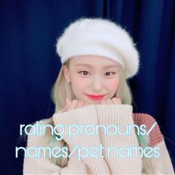 pronouns names petnames compliments
