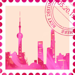 freetoedit pink city stamp
