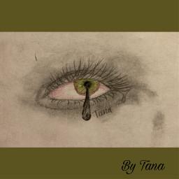 tear cry eye sketch art drip aesthetic bytanakay bytanakayyt tanakay tanakayyt artbytana artbytanakay
