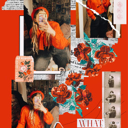 ootd fashion bts jungkook red collage art edit outfit freetoedit
