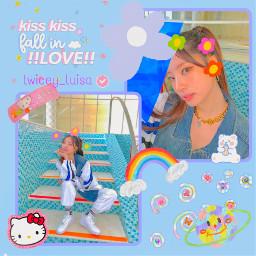 dahyun twice cute colorful rainbowvibes twicedahyun kpop music snow koreangirl art