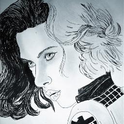 drawing sketch pencilart micronpens blackwidow blackandwhitephotography art scarlettjohansson handmade pencildrawing