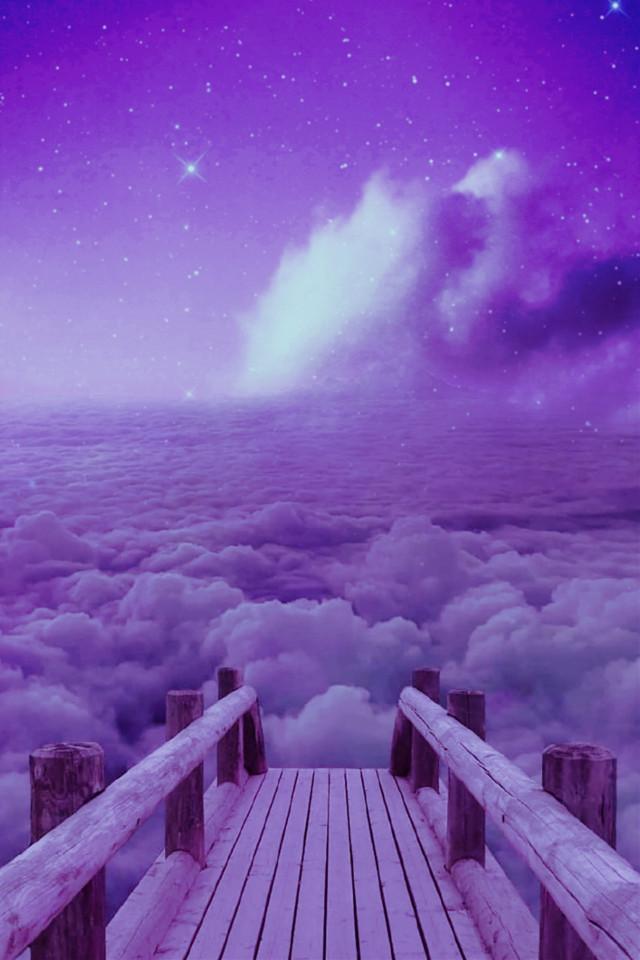 #madewithpicsart #background #backgrounds #wallpaper #clouds #bridge #sky #surreal
