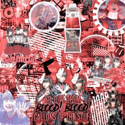 babymetal kpop metal suzuka yui moa edit complex red black freetoedit