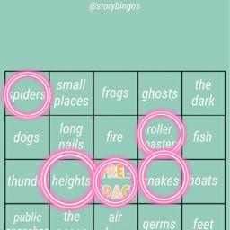 interesting fear dislikes bingo pink freetoedit
