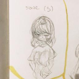 oc backstory art girl traditionalart drawing sketch outline