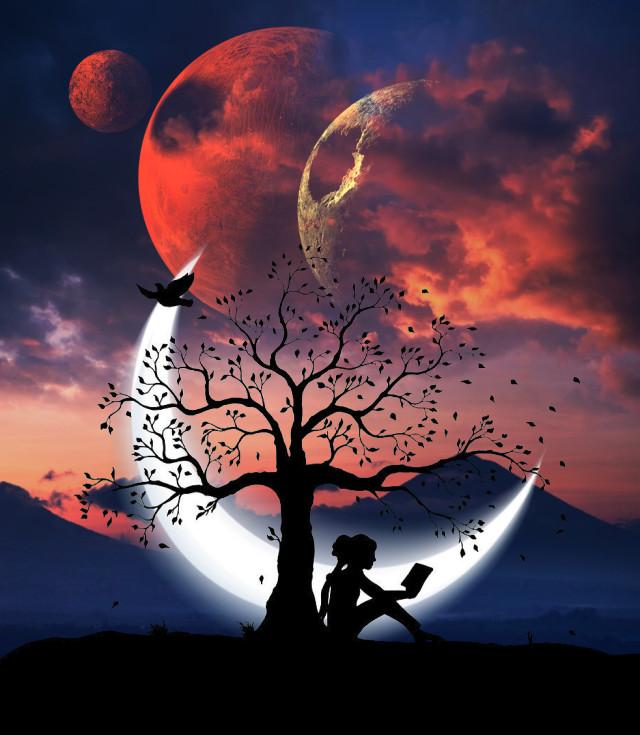 #silhouette #silhouetteedit #editbyme #planet #surrealism #surreal