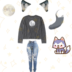 outfit wolf freetoedit