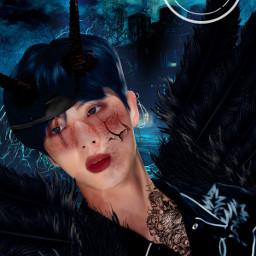 picsart heypicsart edit kpopedit btsedit bts kpop jin btsjin devil manip manipulation manipulationedit manipedit seokjin