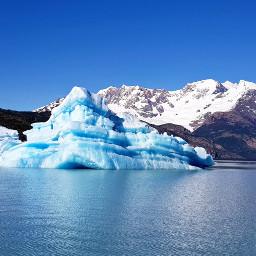 landscape lake iceberg myphotography patagonia argentina freetoedit