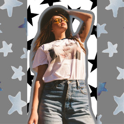 stars girl inthestars picsartsticker freetoedit