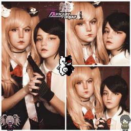 junkoenoshima mukuroikusaba ikusabamukuro enoshimajunko cosplay cosplayer drv2 danganronpa anime game superhighschoolleveldespair idk weeblet101 sisters yeet monokuma cosplayers woopwoop freetoedit