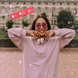 freetoedit likes like instagram sparkles pink