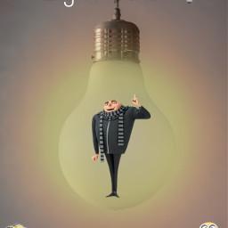 minions lightbulb gru freetoedit irclightbulb