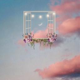 surrealism sky window freetoedit