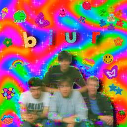 blur bluredit blurband damonalbarn graham grahamcoxon alexjames daverowntree 90s aesthetic kidcore weirdcore dreamcore saturation freetoedit picsart
