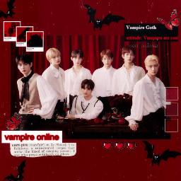enhypen goth vampire redaesthetic enhypenedit