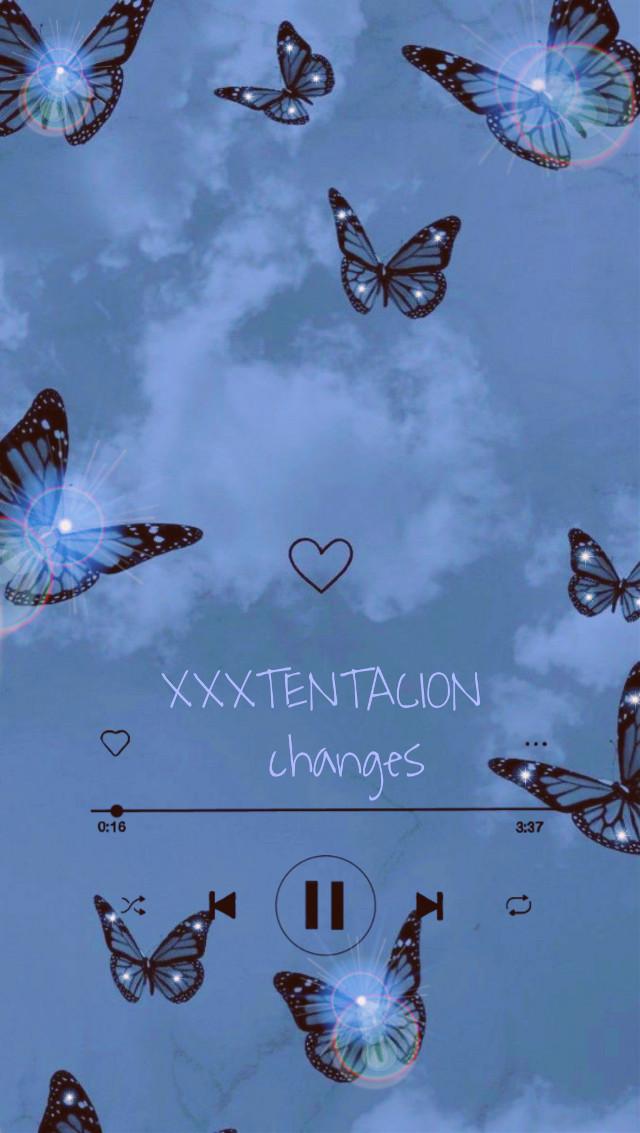 #xxxtentacion #changes #butterfly #skywithclouds #skywithbutterflies #music