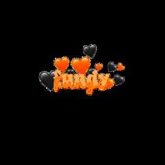 fundy fox dreamsmp dreamteam orange black hearts crown fundythefox fundysticker freetoedit