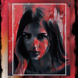 girlface frame frameart framestickers digitalart artistic aesthetic madewithpicsart freetoedit