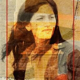 girl frame stickers retroeffect artistic aesthetic madewithpicsart freetoedit