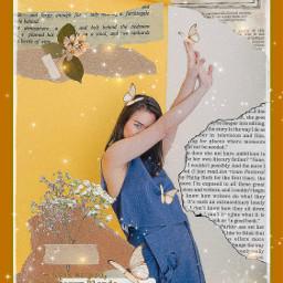 mitskimitski scrapbook vintage musician singer strawberryblonde cottagecore yellow nature book freetoedit