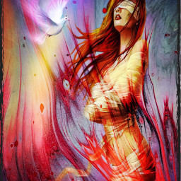 thechallenge blind faith theunseen beautiful misery fire flames torment mind control myedit ectie-dye tie-dye freetoedit