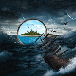 ocean oceanlife oceangirl oceanlover oceanstorm storm island freetoedit ircminimirror minimirror