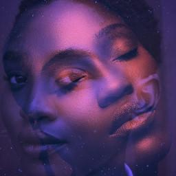 doubleexposure stars face womanface freetoedit