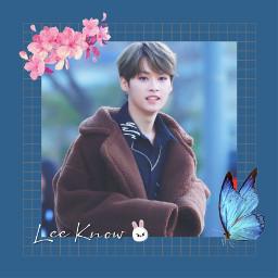 freetoedit straykids straykidsedit skz leeknow leeminho minho leeknowstraykids love sweet cute idol art kpop kpopedit blue rabbit