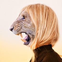 freetoedit animal animalhumanhybrid portrait madewithpicsart