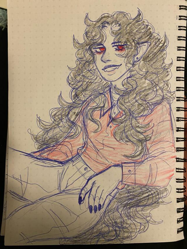 what if marshall lee had long hair,,,, #sketch #sketchbook #marshalllee #adventuretimefanart
